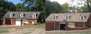 10 35th St. Garage Front Before & After (1)
